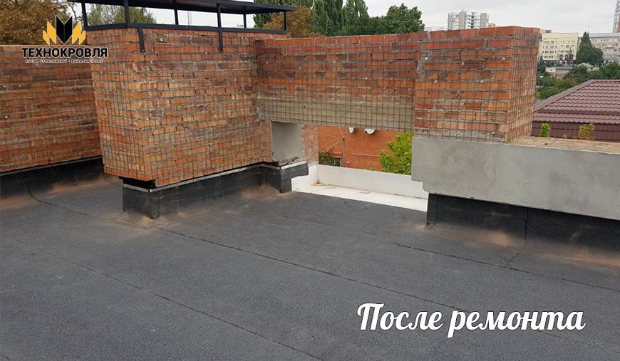 Плоская кровля частного дома, г. Ставрополь